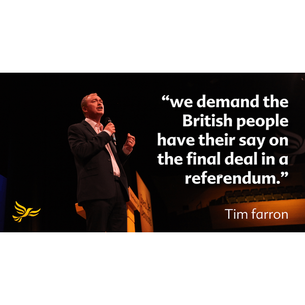 Tim Farron Europe Referendum