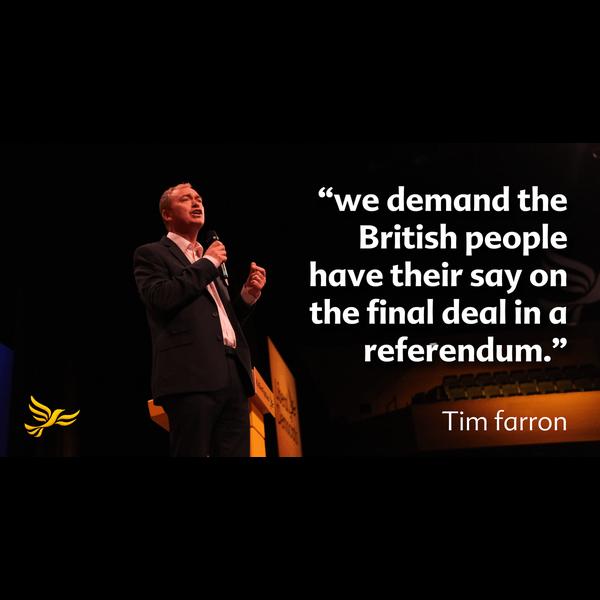 Tim Farron Europe Referendum