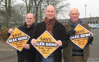 John Edwards, Julian Tisi and Antony Wood campaigning to stop a Multi-Storey Car Park at Alexandra Gardens.