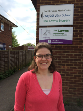 Amy Tisi outside Lawns Nursery Windsor
