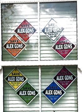 Save Alexandra Gardens Save Alex Gardens Save Alex Gdns poster posters rainbow SAG20 (R Coe)