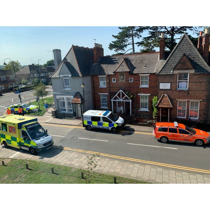 Mill Lane Accident Police Ambulance 2021 (M Gibbons)