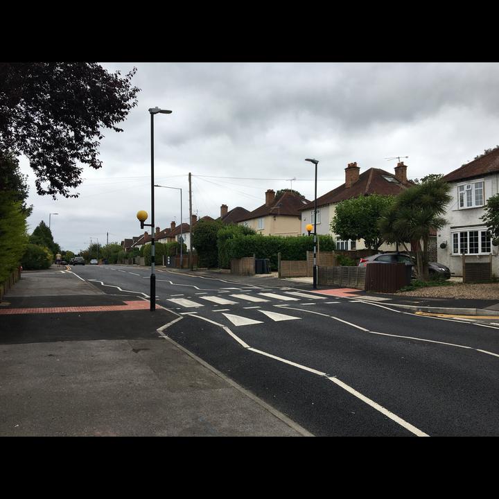 Clewer Hill Road Crossing Road Surface New Belisha Beacon Zebra Crossing (K Davies)