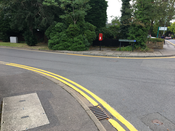 Dropped Curb Addington Close Clewer Hill Road Windsor Double Yellow lines (K Davies)